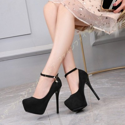 パンプス 靴 大きいサイズ レディース キャバ 結婚式 美脚 美脚パンプス ハイヒール ピンヒール 厚底 ドレス 黒 白 ストラップ サンダル 痛くない 脱げない