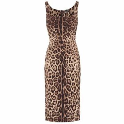 ドルチェandガッバーナ Dolce and Gabbana レディース ワンピース ワンピース・ドレス Leopard-print stretch-silk dress Leo New