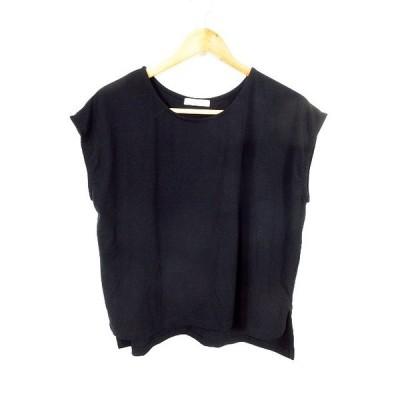 【中古】フリークスストア FREAKS STORE Tシャツ カットソー 半袖 無地 F 黒 ブラック /MO レディース 【ベクトル 古着】