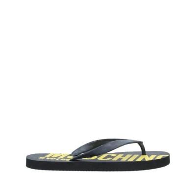モスキーノ MOSCHINO  メンズ サンダル ソング シューズ 靴 ブラック