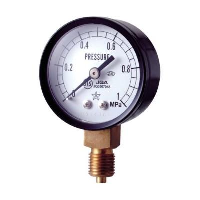 右下 スター (圧力計)(A枠立型・φ50) 圧力レンジ0.0~0.50MPa S-11-0.5MP