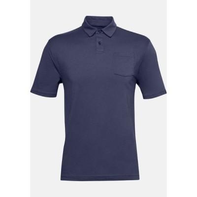 アンダーアーマー ポロシャツ メンズ トップス SCRAMBLE  - Sports shirt - blue ink