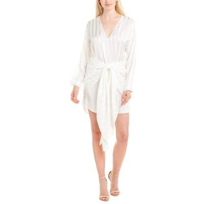 ミシェルメゾン ワンピース トップス レディース Michelle Mason V-Neck Silk Wrap Dress ivory