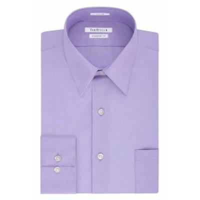Point  ファッション ドレス Van Heusen NEW Purple Mens 15 1/2 Regular Fit Solid Point Collar Shirt