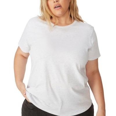 コットンオン Tシャツ トップス レディース Trendy Plus Size Crew Neck T-Shirt Silver Marle