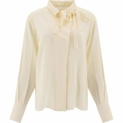 クロエ Chloe レディース ブラウス・シャツ トップス Striped Silk Shirt Beige