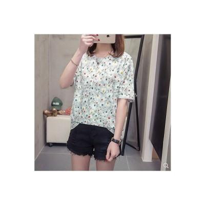 大きいサイズL-4XL ファッション/人気Tシャツ ブルー/ピンク/グレー3色展開