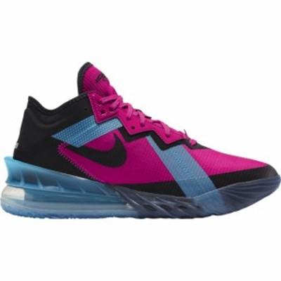 ナイキ メンズ バッシュ Nike LeBron XVIII 18 Low - Fireberry/Black/Lt Blue Fury