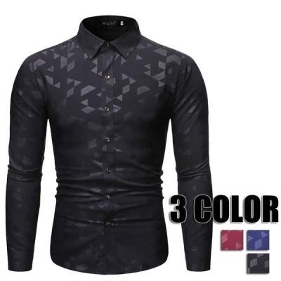 メンズシャツ メンズ カジュアルシャツ 秋冬 メンズ ワイシャツ ブラック レッド ブルー おしゃれ 大きいサイズ メンズシャツ メンズファッション 3色