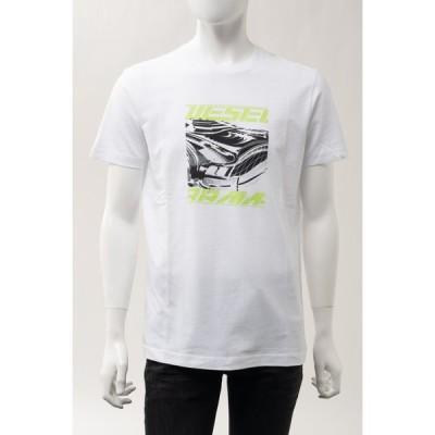 ディーゼル Tシャツ 半袖 丸首 クルーネック T-DIEGOS-K33 MAGLIETTA メンズ A00352 0AAXJ ホワイト DIESEL
