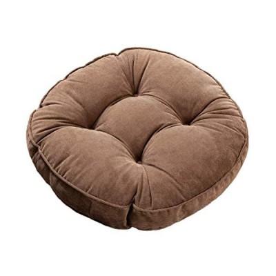 座布団 フロアクッション 超厚10cm 無地座布団 コーヒー ざぶとん クッション 座り心地いい 52cm直径 椅子/ソファ/たたみ/オフィス適用