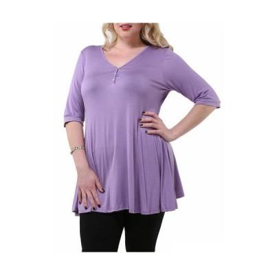 レディース 衣類 トップス Women's Plus Size Henley Tunic Top ブラウス&シャツ