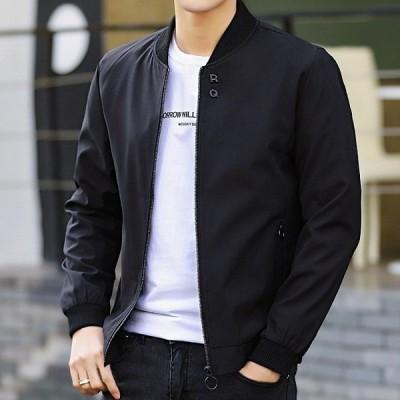 【夏セール】ジャケット ミリタリージャケット SI メンズ  フライトジャケット スプリングジャンパー 立て襟 防風 春物ジャケット