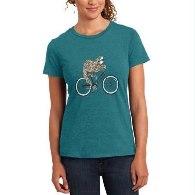 レディース 衣類 トップス Bicycle Sloth Womens Soft Heather T Shirt Heathered Teal SM Tシャツ