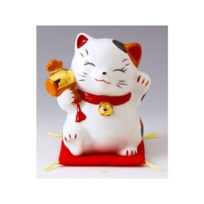 財福招き猫(大)福槌(磁器)