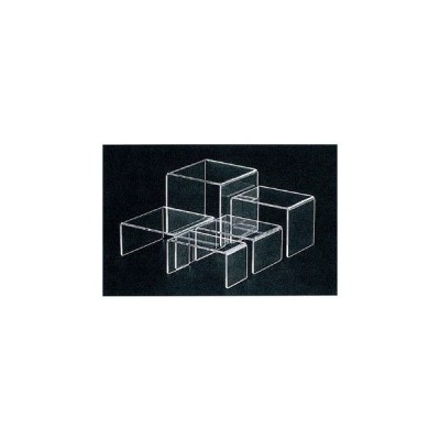 アクリル ディスプレイ コの字展示台 30635 小小【 ディスプレイ用品 】
