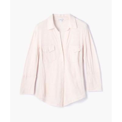TOMORROWLAND/トゥモローランド サイドパネルシャツ WUA3042 32 ピンク系 0(S)