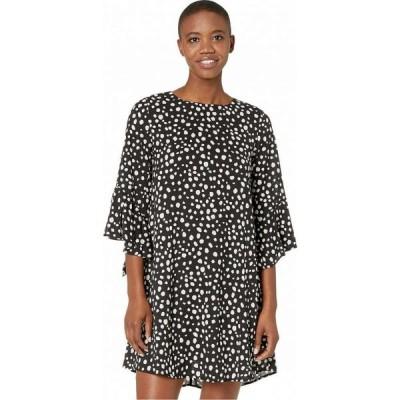 アメリカンローズ American Rose レディース ワンピース ワンピース・ドレス Ivy Polka Dot Dress with Flared Sleeves Black/White