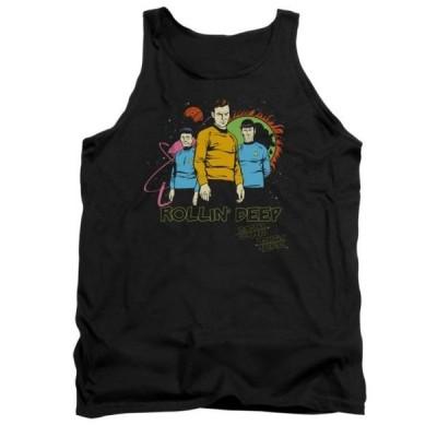 ユニセックス 衣類 トップス Star Trek TV Series Kirk Spock & McCoyRollin Deep Funny Adult Tank Top Shirt タンクトップ