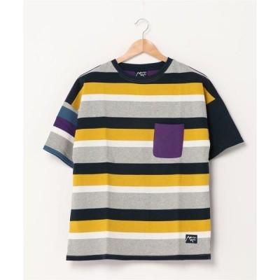 "tシャツ Tシャツ Mountain Mania/SHORT SLEEVE TEE ""BORDER×PLAIN"