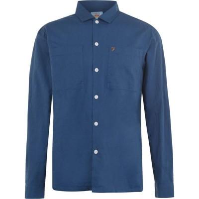 ファーラーヴィンテージ Farah Vintage メンズ シャツ トップス Tull Long Sleeve Shirt Blu Grape
