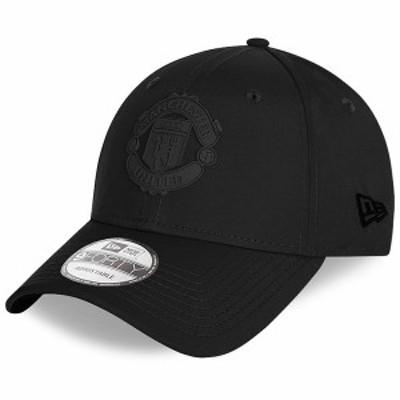 ニューエラ メンズ 帽子 アクセサリー Manchester United New Era Tonal Rubber Logo 9FORTY Adjustable Hat Black