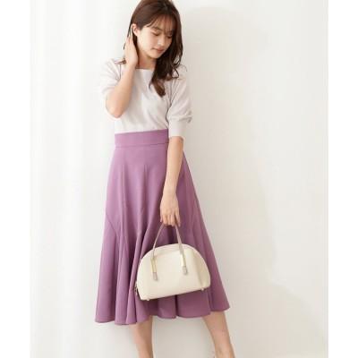 フレアマチスカート プラムピンク6
