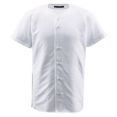 フルオープンシャツ Sホワイト DESCENTE シャツ ユニフォーム ( DB1010-SWHT / DES )(QCB02)