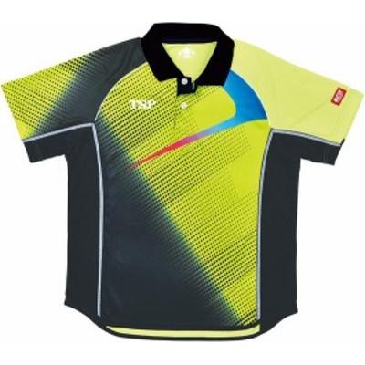 TSP 卓球 男女兼用 卓球ゲームシャツ エクレールシャツ 19 ライム ケームシャツ・パンツ(031426-0280)