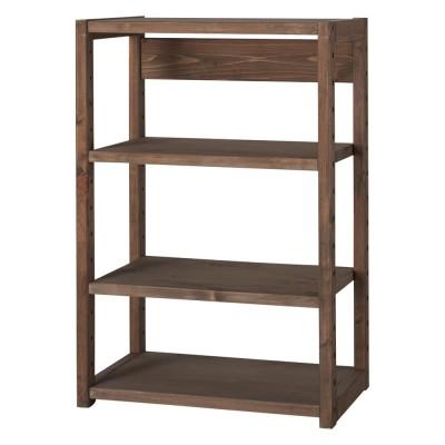 家具 収納 本棚 ラック シェルフ 棚 国産檜オープンラック 幅60高さ89cm 572443
