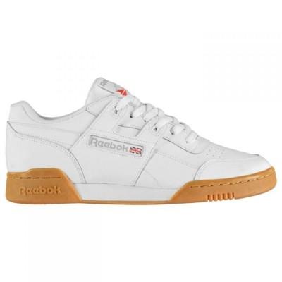 リーボック Reebok Lifestyle メンズ スニーカー シューズ・靴 Classics Workout Plus Trainers White/Gum