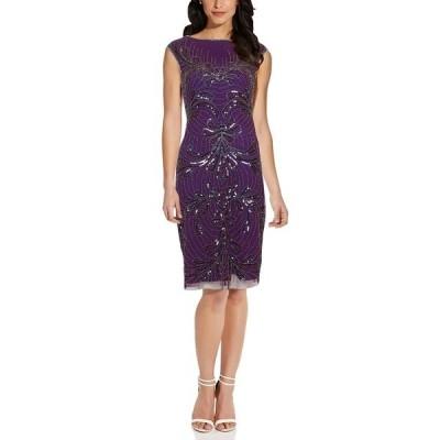 アドリアナ パペル ワンピース トップス レディース Embellished Sheath Dress Amethyst Purple