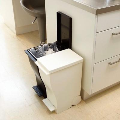 ごみ箱 20L 黒 ブラック 白 ホワイト 蓋つき キャスター付き スリム ペダル おしゃれ スタイリッシュ キッチン リビング