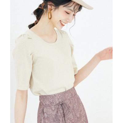 archives / タックスリーブラメ5分袖ニット WOMEN トップス > ニット/セーター