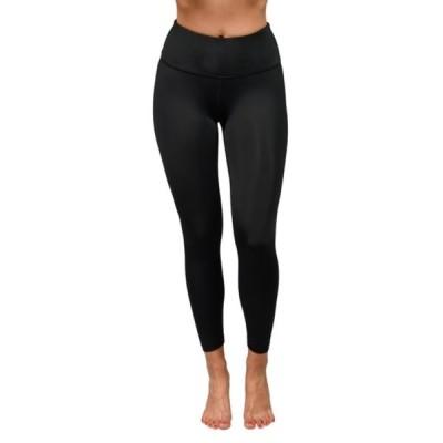 90ディグリー レディース カジュアルパンツ ボトムス Wonderflex Elastic Free High Waist Capri Leggings BLACK