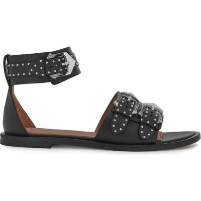 ジバンシー Givenchy レディース サンダル・ミュール シューズ・靴 elegant black studded leather sandals Black
