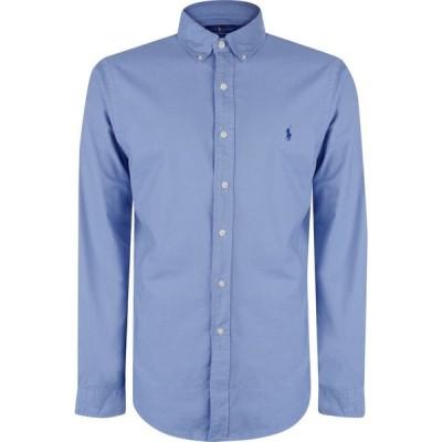 ラルフ ローレン Polo Ralph Lauren メンズ シャツ スリム ワイシャツ トップス Slim Fit Garment Dyed Oxford Shirt Bastille Blue