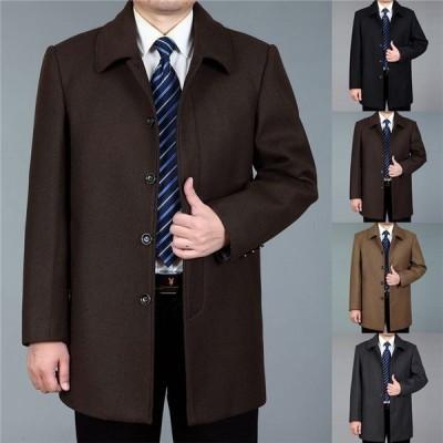 ウールコート ビジネスコート メンズ オシャレ ラシャ 防寒着 アウター 冬 秋 紳士服 かっこいい メルトンコート