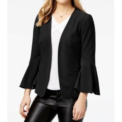 kensie ケンジー ファッション 衣類 Kensie NEW Black Deep Womens Size XS Open Front Bell-Sleeve Jacket