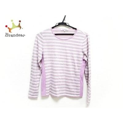 ハナエモリ HANAE MORI 長袖セーター サイズ38 M レディース 美品 パープル×マルチ   スペシャル特価 20210316