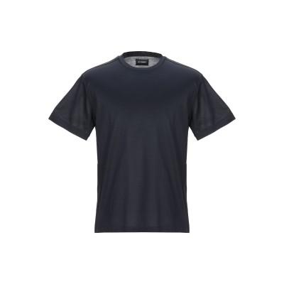 LES HOMMES T シャツ ダークブルー M コットン 100% T シャツ