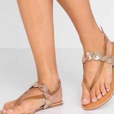 アンナフィールド レディース 靴 シューズ T-bar sandals - cognac