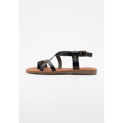 トレンドヨル サンダル レディース シューズ T-bar sandals - black