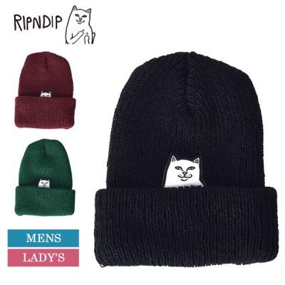 メール便 RIPN DIP リップンディップ ニットキャップ ビーニー ニット帽 メンズ レディース ブラック レッド グリーン グレー RND1890 RND3984 RND2084 RND1891