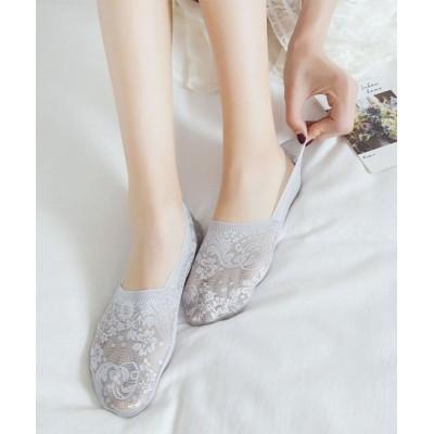(seiheishop/セイヘイショップ)ずれない 滑り止め 浅型 ソックス 靴下 レース 刺? レディース用 夏 パンプス 通学/レディース ライトグレー