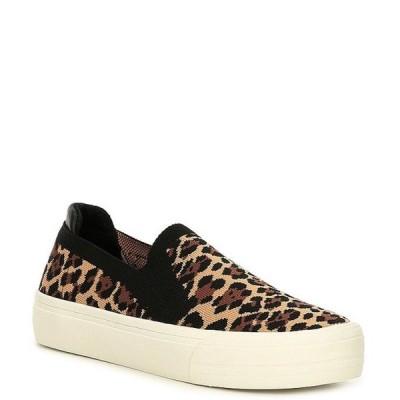 ジービー レディース スニーカー シューズ Cant-Even Leopard Print Flyknit Sneakers
