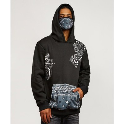 REASON CLOTHING リーズンクロージング パーカー フーディー ブラック BANDANA REMOVABLE FACE MASK HOODIE cv-t108