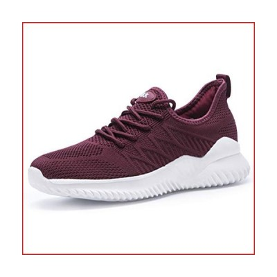 Akk Non Slip Walking Shoes for Women - Slip on Sneakers Lightweight Fashion Casual Tennis Shoes WineRed 11.5【並行輸入品】