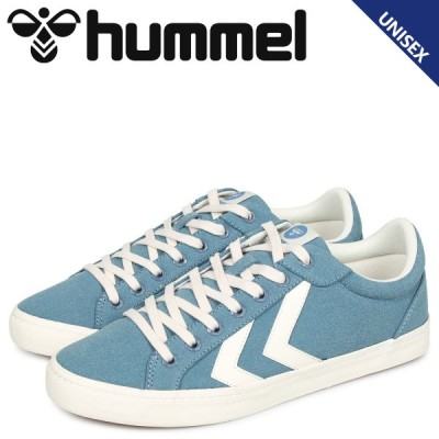 hummel ヒュンメル デュース コート スニーカー メンズ レディース DEUCE COURT ブルー HM206425-7487