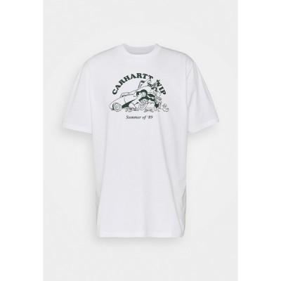 カーハート Tシャツ メンズ トップス FLAT TIRE - Print T-shirt - white